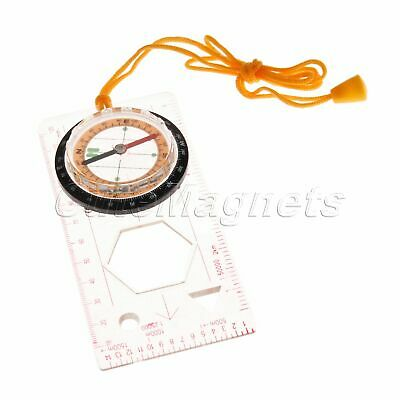 Brand New Orienteering Hiking Scout Baseplate Map Magnifying Compass Ruler Scale