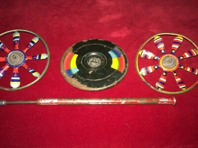 VERY Rare Antique Original Victorian early 1800s Tin Spinning Toy works Great