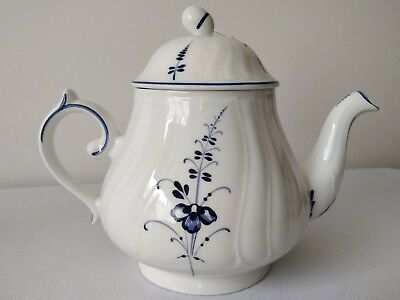 "New with tag Villeroy & Boch Vieux Luxembourg Big 7"" tall Teapot"