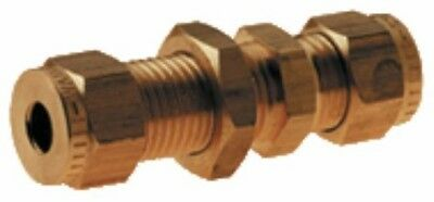 Wade Brass Compression Fitting – Imperial Bulkhead Coupling
