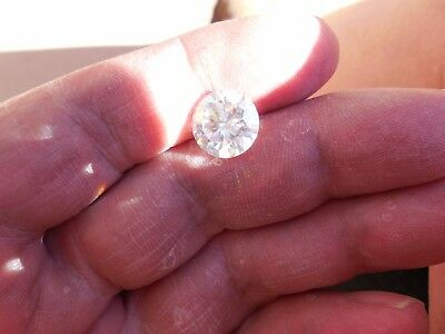 Fiery 4.77 ct White H - I Color Round Loose Moissanite VVS1 11.07 mm