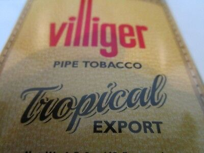 Plastic Pipe Tobacco Pouche VILLIGER TROPICAL EXPORT 1.5 oz  FREE SHIPPING