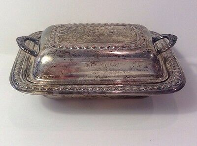 Vintage Silverplate  Miniature Small Covered Serving Dish Bowl