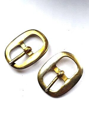 Pair of Victorian Brass Shoe Buckles