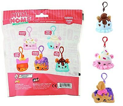 4-Pack Mystery Blind Bag Num Noms Scented Backpack Buddies Stuffed Toys