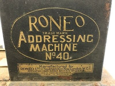 Vintage Antique Art Deco Roneo Addressing Machine Rustic Display London Melb