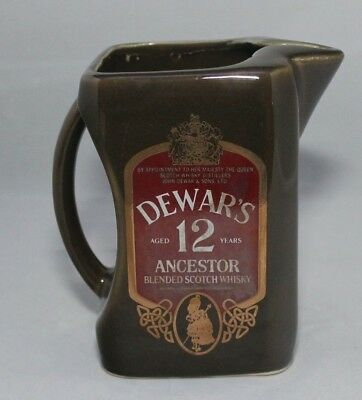 Dewar's Ancestot Blended Scotch Whisky Liquor Bar Water Pitcher