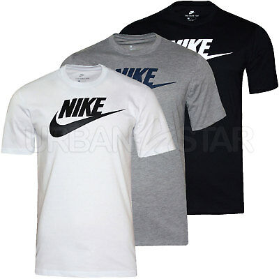 New Mens Nike T-Shirt Retro Gym Sports Nike Logo Top Crew Neck Tee S M L XL