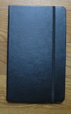 "Piccadilly Essential Notebook - Ruled -Hardcover Black -Medium (5"" x 8.25"") NEW"