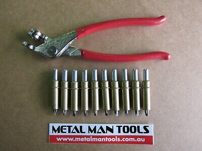 "CLECOS, SET 20 X 3/16"" and PLIERS, SKIN PINS, PANEL BEATING, HOTROD, CUSTOM"