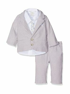 Mamas & Papas Baby Boys' Suit Grey (Oatmeal/White) 18 - 24 Months