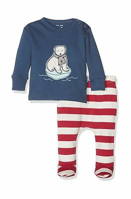 Kite Baby Polar Bear Clothing Set, Multicoloured (Navy/Red), 0-3 Months (Manu...