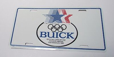 Buick 1984 Los Angeles Olympics Official Factory License Plate never used