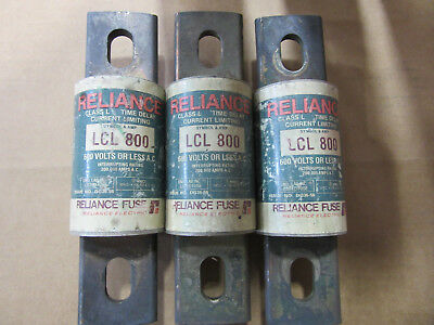 (3) Reliance LCL800 Fuses 800A 600V Good Condition!!! with Free Shipping