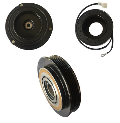 Coil 2000 2001 BMW 740i 740iL AC Compressor Clutch Kit 5 groove Pulley Plate