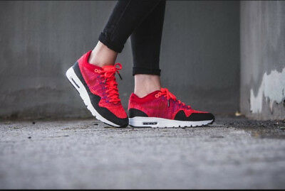 27b19d602790 Nike WMNS Air Max 1 Ultra Flyknit women lifestyle red (859517-600) Size