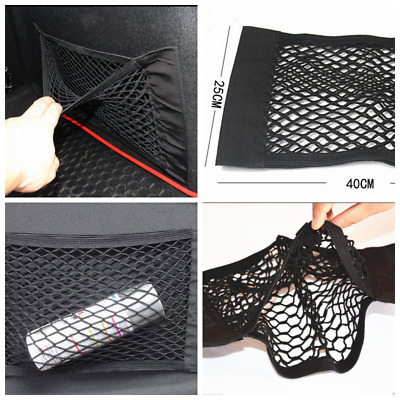 1x Car Auto Back Rear Trunk Seat Elastic String Net Mesh Storage Bag Pocket Cage