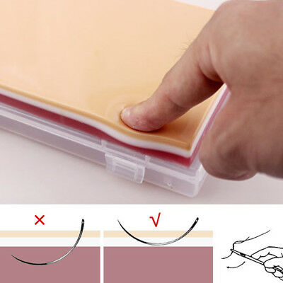 Silicone Fake Human Skin Model Suture Practice Pad Surgical Train Tool Non-Toxic