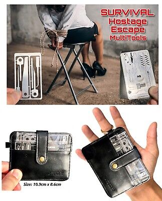 2 Style Survival Escape Multitool Cards Credit Card Wallet Size Gift
