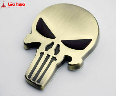 3D Skull Emblem Badge Decal for Harley Motor Tank Dyna Sportster Fatboy Softail