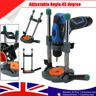 45°Angle Adjustable 43mm Mobile Swivel Electric Drill Holder Guide Stand Tool AU