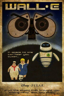"008 WALL E - Pixar Eve Space Adventure Cartoon Movie 14""x21"" Poster"