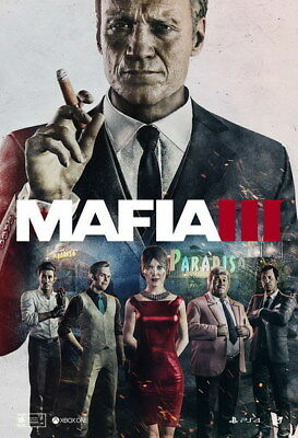 """015 Mafia 3 - Action Role Play Game 14""""x20"""" Poster"""
