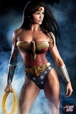 "009 Wonder Woman - Sexy Girl Justice League USA Hero 14""x21"" Poster"