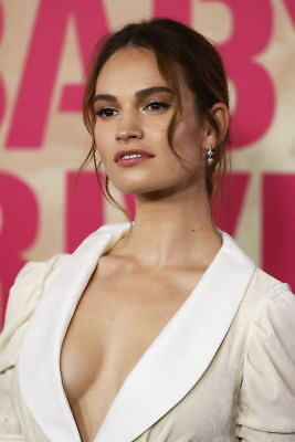 "002 Lily James - Beautiful Hot England Actor Star 14""x21"" Poster"