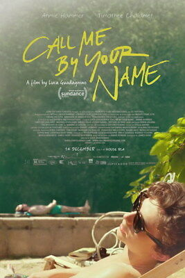 """002 Call Me By Your Name - Romance 2017 USA Movie 14""""x21"""" Poster"""