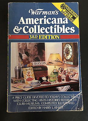 Warman's Americana And Collectibles 3rd Ed Price Guide Harry L Rinker 1988