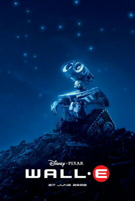 "018 WALL E - Pixar Eve Space Adventure Cartoon Movie 24""x35"" Poster"