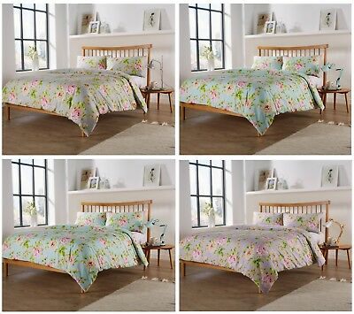 Floral Duvet Cover Set With Pillow Cases King Size Double Single Super Bedding
