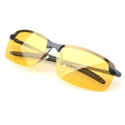 Anti Glare UV400 Protection Yellow Lens Glasses Night Vision Driving Sunglasses