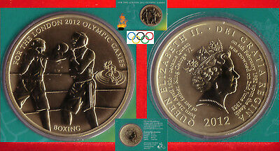 BOXEN BOXING OLYMPISCHE SPIELE XXX. OLYMPIC GAMES MEDAILLE Ø 40mm LONDON 2012
