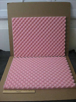 "1 x Soft Pink Egg Crate Foam Sheets_27-3/4"" x 20-3/4"" x 1-1/4"""