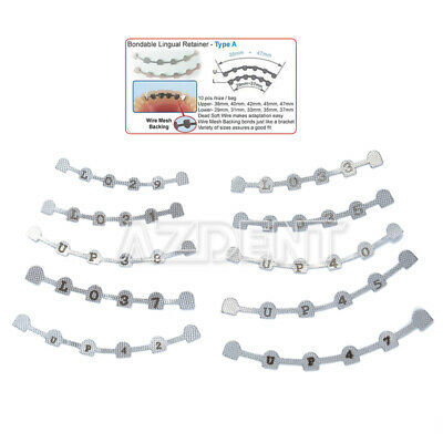 Dental Orthodontic Lingual Retainer Bonding Splits with mark 10pcs/pack AZDENT