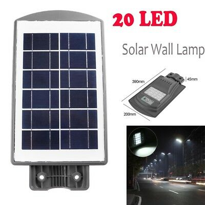 20W 2835SMD 20LED Ulra Bright Solar Light Outdoor Street Wall Lamp Waterproof