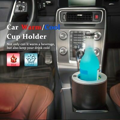 Electric Car Cup Holder Cooler Heater 12V Cooling Drinks 28℉ Heating Coffee 149℉