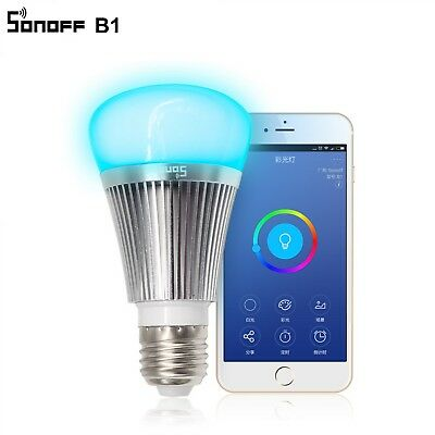 Sonoff B1 Smart Wifi Lamp E27 Dimmable Colorful LED Lamp RGB Color Light APP