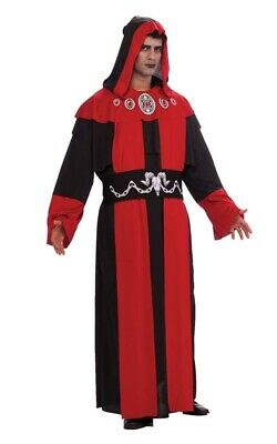 Gothic Hooded Robe Plus Size Ghoul Adult Mens Fancy Dress Halloween Costume a9d4534813ec
