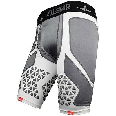 All-Star Adult Hit-Knit Compression Sliding Shorts White Adult Large CPS-S7