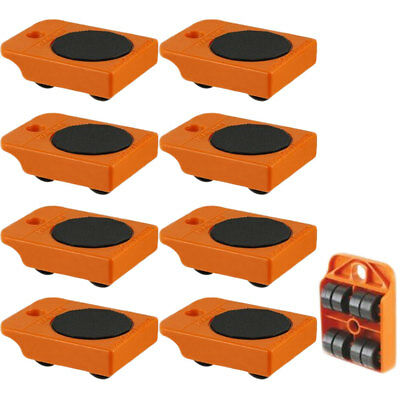 """8pc Furniture Mover Rollers - Furniture & Appliances Roll with Ease 4"""" x 3"""""""