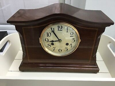 Edwardian Mantle Clock. Original case, poss Astral, later Smiths movement. GWO.