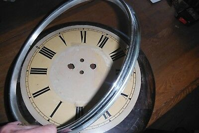 Very Large Antique Black Forest Wag on Wall Postman's Bezel Face Dial