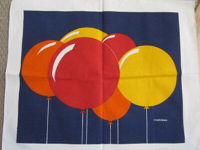 "Vintage Marushka Canvas COLORFUL BALLOONS Unframed New  22"" X 26 1/2"""