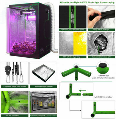 "VIVOSUN 48""x48""x80"" Mylar Hydroponic Grow Tent Room for Indoor Plant Growing 4x4"