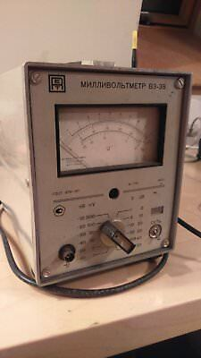 Millivoltmeter, model B3-38/V3-38, Soviet manufactured