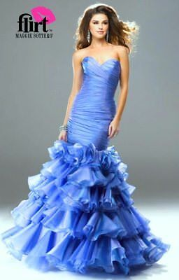 Maggie Sottero Flirt $499 New 12 Blueberry Prom Pageant Quinceanera Gala Dress