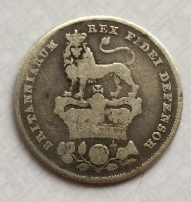 1826 George IV Silver Shilling (92.5%)